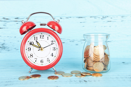 strapped: Investment time Stock Photo