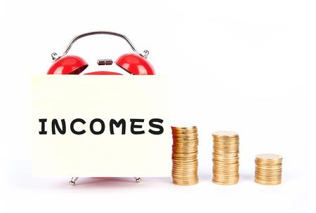 strapped: Income Stock Photo