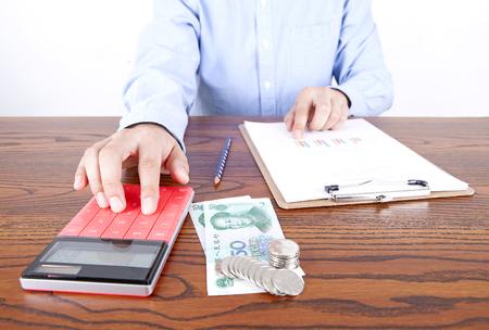 Accountant in work Lizenzfreie Bilder