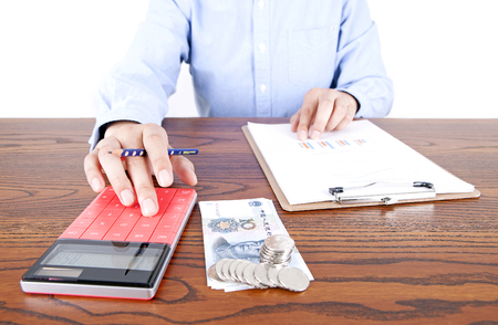 Accounting for work Stock Photo
