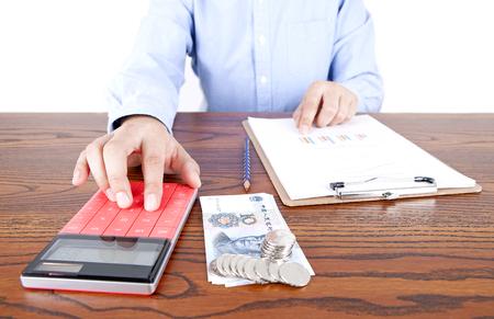 Accounting for work Lizenzfreie Bilder