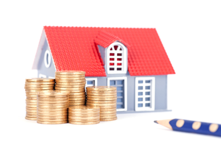 House price rising concept Stock Photo