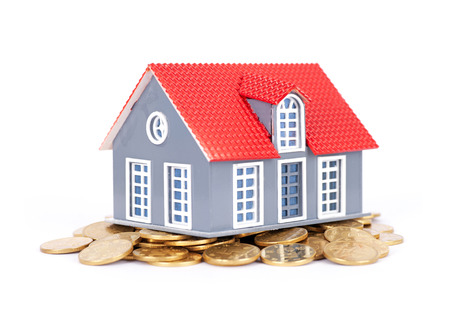 arrears: A small house on a gold coin