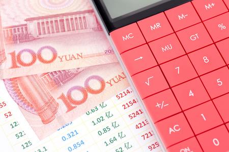 property management: Property calculation Stock Photo