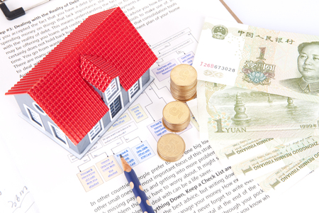 building regulations: House purchase plan concept