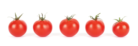 completely: A row of small tomatoes