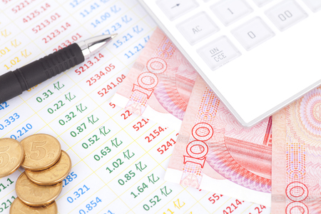 Capital market analysis concept Stock Photo