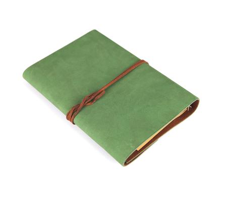 Ein Tagebuch auf einem weißen Hintergrund Lizenzfreie Bilder