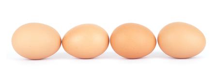 Eine Reihe von Eiern