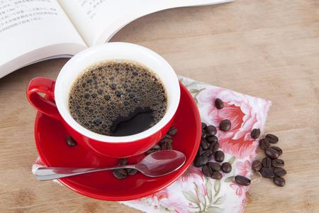Lesen und Kaffee Zeit