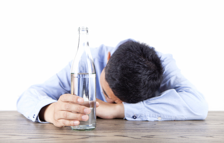 Alcoholics Stock Photo