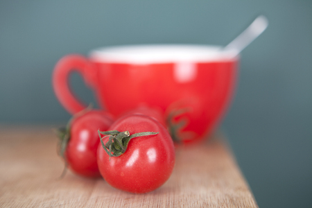Tomato coffee Stock Photo