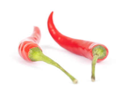 Two chili peppers Stock Photo