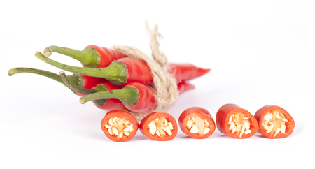 Hot peppers and cut peppers