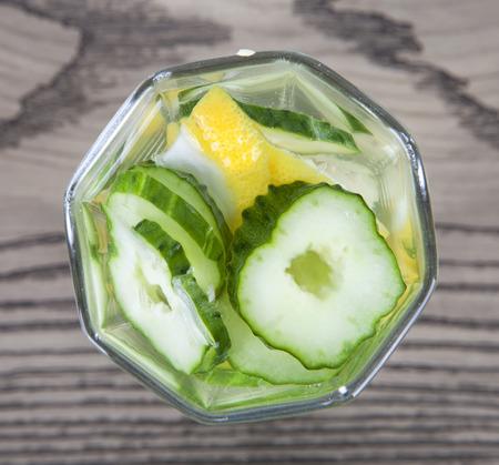 Cucumber lemonade overlooking