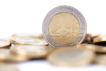 Euro coins Banque d'images