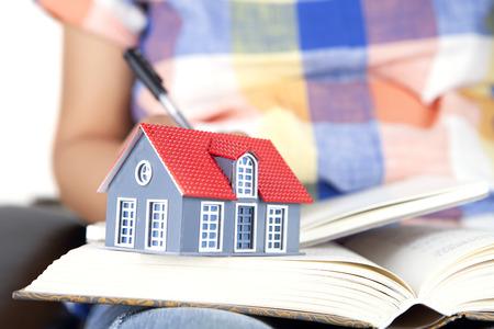 Readers house model on books Stock Photo