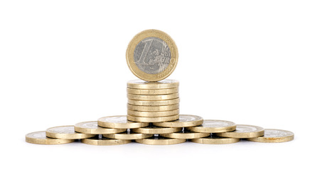 A decorative euro coin Stock Photo