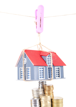 The rising of property prices concept Stock Photo