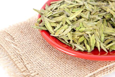 Tea leaves on the plate