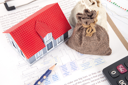 Real estate investment plan Stock Photo