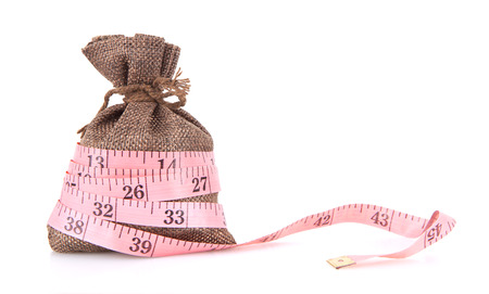 The money bag wrapped in measuring tape