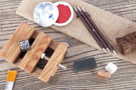 Chinese seal cutting art