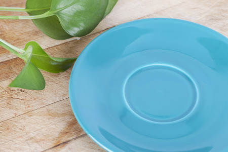 Plate on the cutting board 版權商用圖片