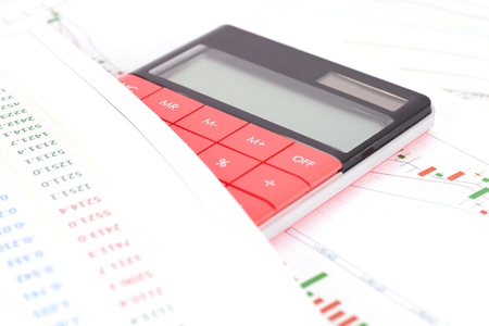 Financial Investments Concept With Graph Paper And Calculator Stock