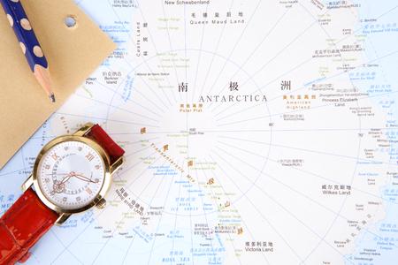 南極大陸の中心地図