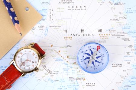 南極大陸の中心部の地図