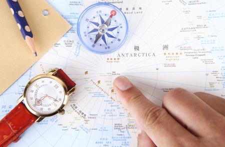 南極大陸の中心部の地図 写真素材 - 90897334