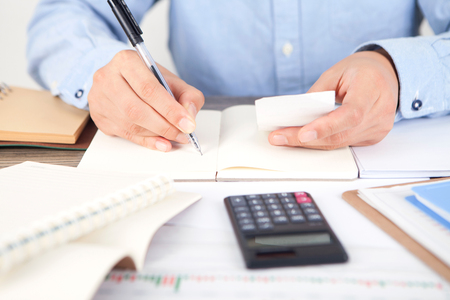 Accountant at work concept