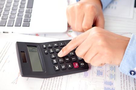Financial work concept