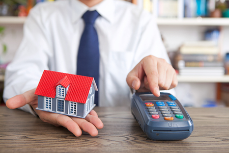 Commercial housing transactions Stock Photo