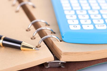 Notebook pens and calculators