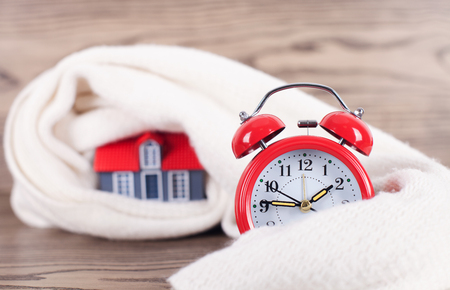 The cold winter season of the real estate industry Stock Photo
