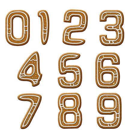 Numeric shape biscuits 免版税图像