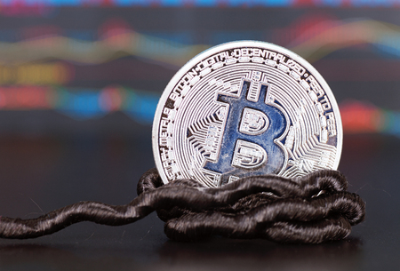A bit of bitcoin tied to a rope