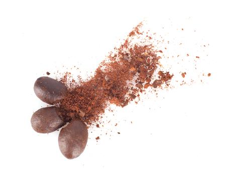 Creative coffee beans and coffee powder