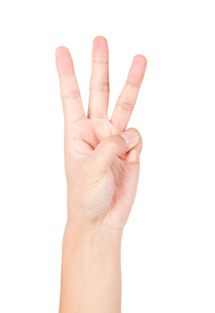 three gestures Archivio Fotografico - 96688623