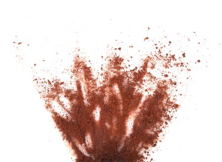 Spilled coffee powder
