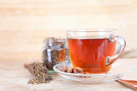 Black tea Reklamní fotografie