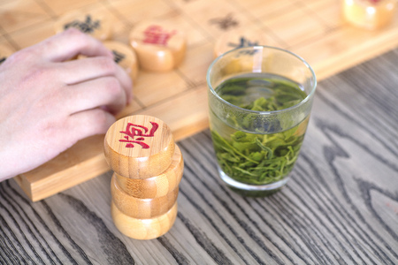 chinese Chess with tea