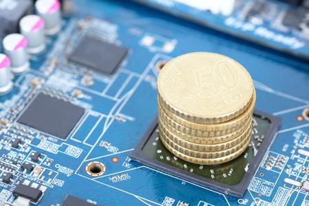 Chip development Banco de Imagens