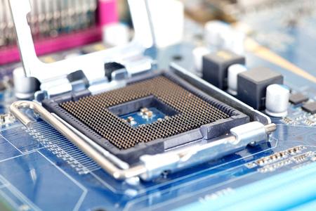 Computer CPU slot Banque d'images