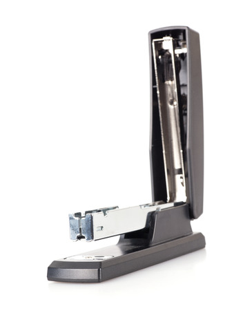 A stapler on the white background