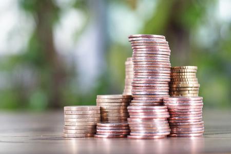 An orderly coin Stock Photo