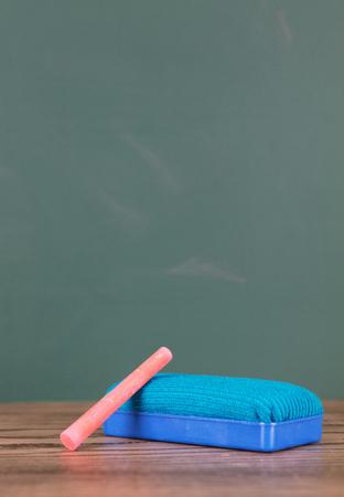 eraser and chalk Stock Photo
