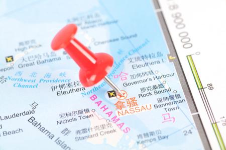 Nassau map, capital of the Bahamas Editorial